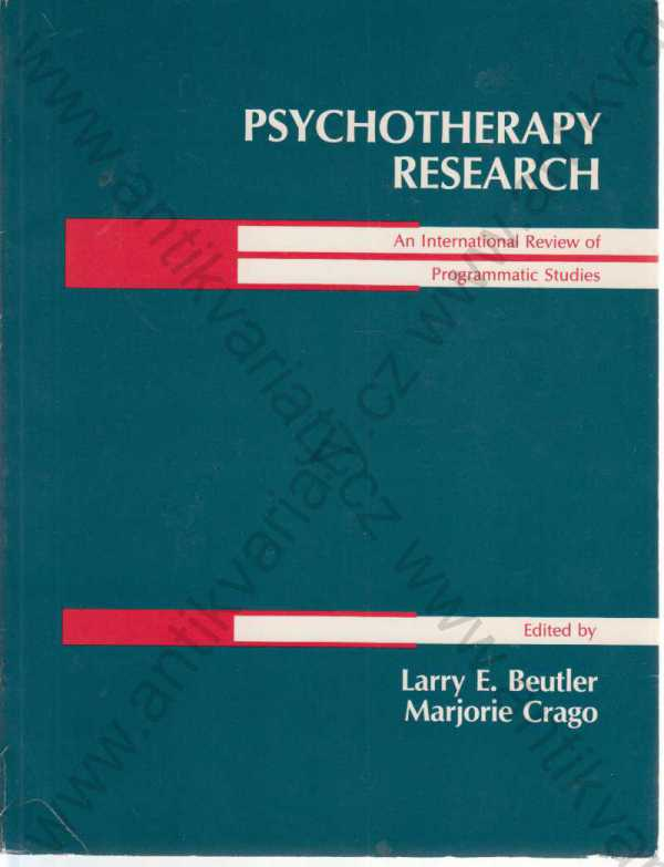 Larry E. Beutler, Marjorie Crago - Psychotherapy research