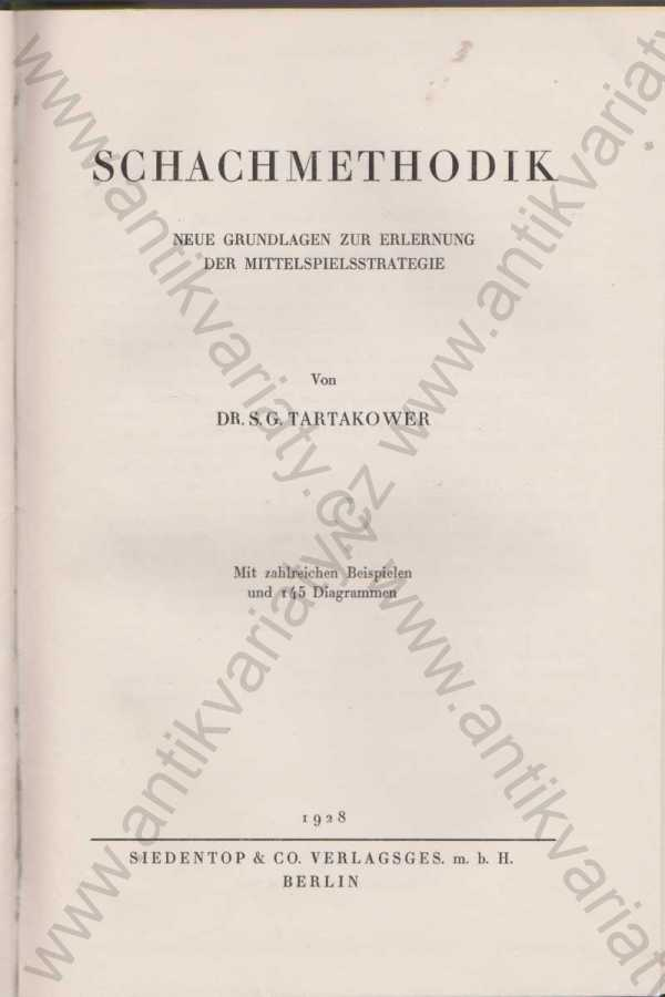 S. G. Tartakower - Schachmethodik