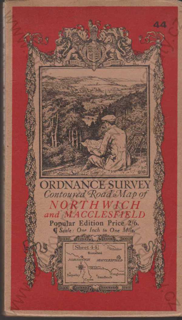 - Ordnance Survey Contoured Road Map of Northwich and Macclesfield