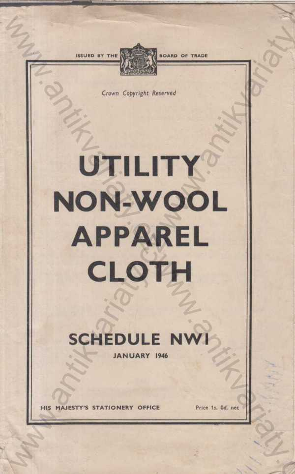- Utility non-wool apparel cloth