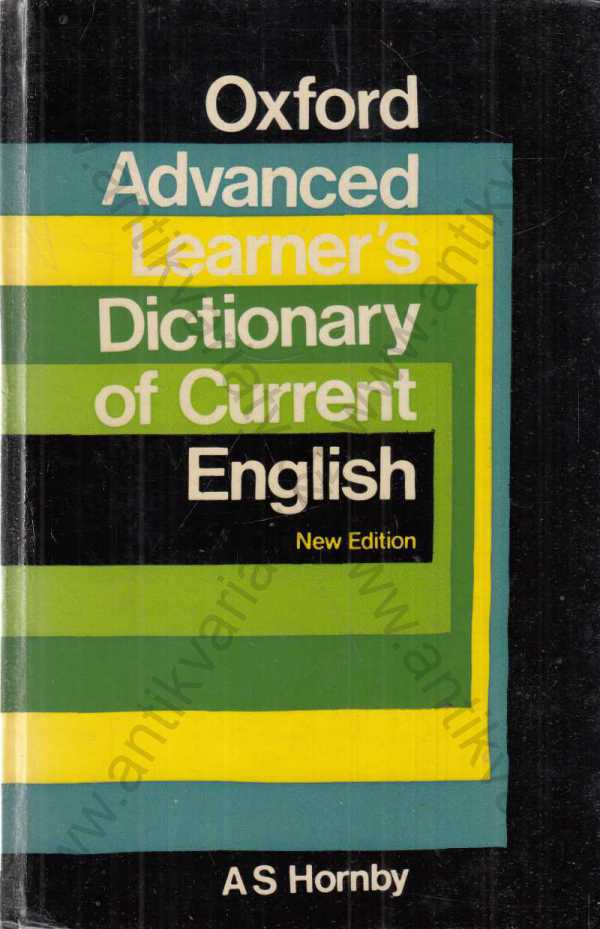 A. S. Hornby, A. P. Cowie, J. Winsor Lewis - Oxford Advanced Learner's  Dictionary of Current English