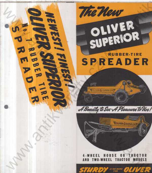 - The New Oliver Superior, Rubber-Tire Spreader